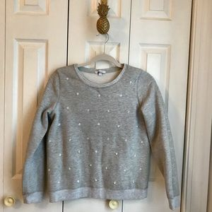Delia's Size Small Bedazzled Gray Sweatshirt